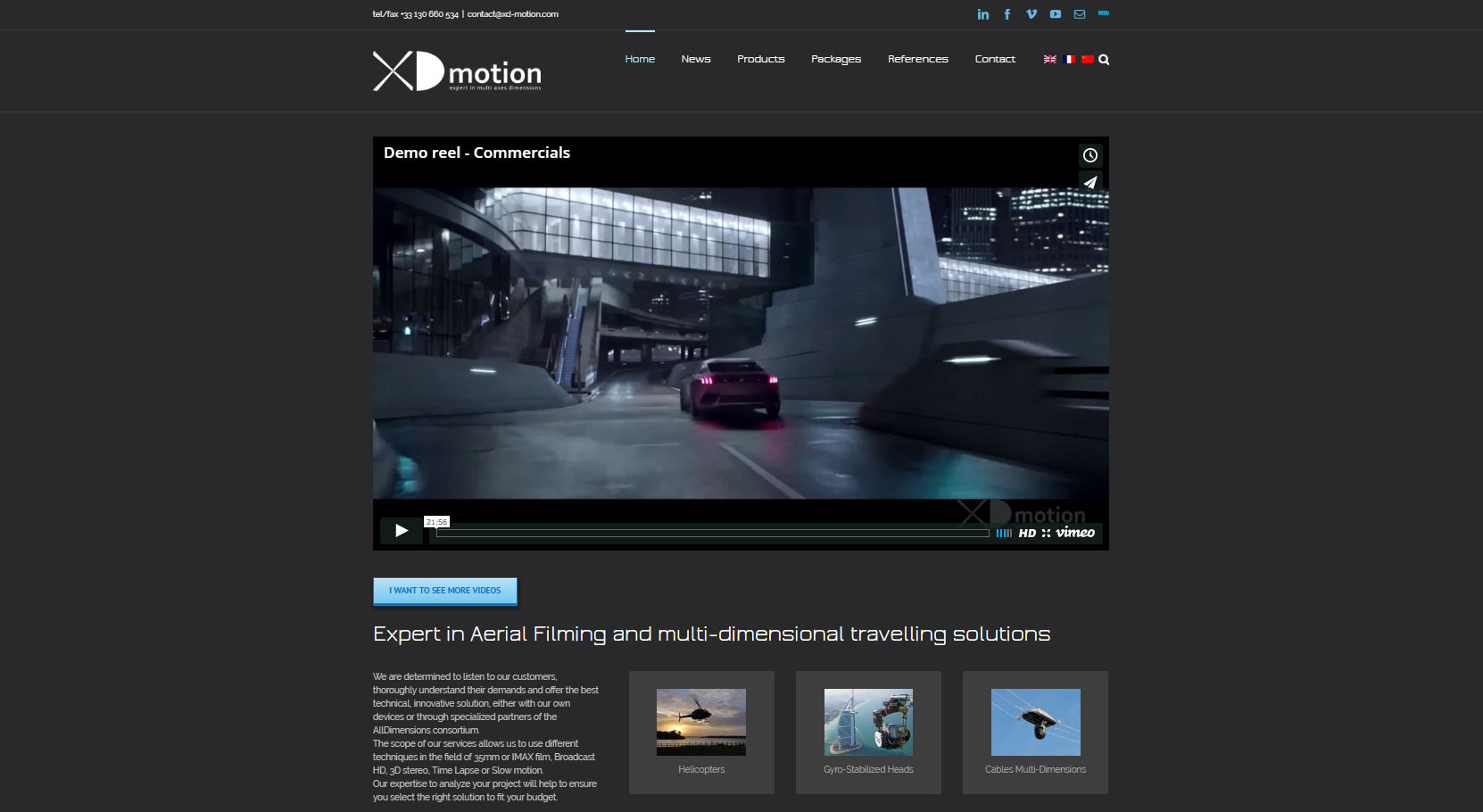 XD motion website